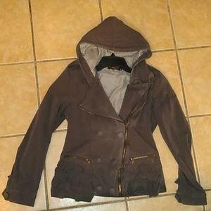 Hazel Zip up Jacket with ruffle pockets